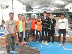 インドネシア編み込み職人チーム