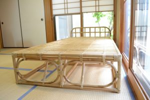 軽やかな籐ベッド約20kg~