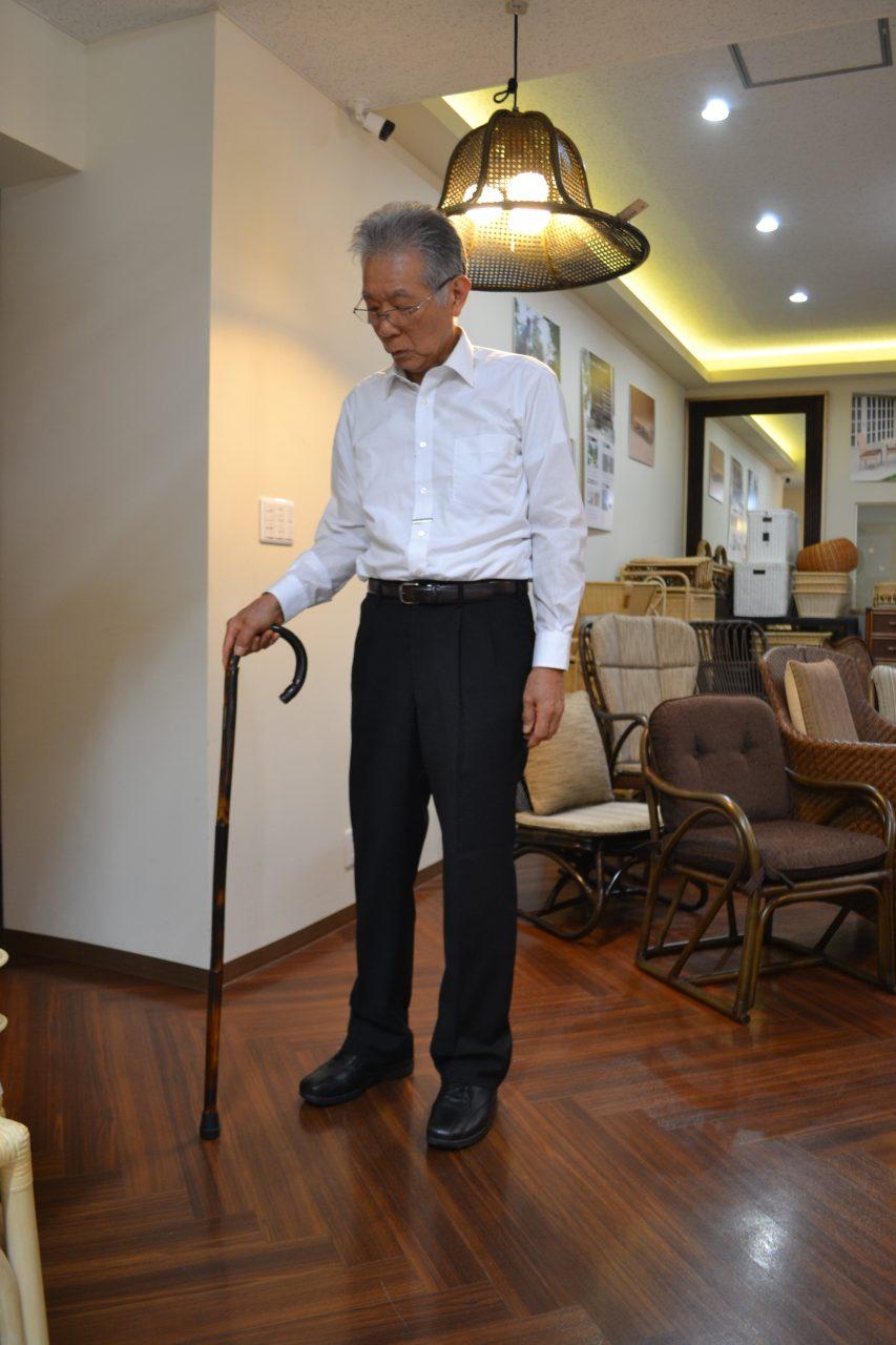 紳士の嗜み籐の杖と職人三浦明利