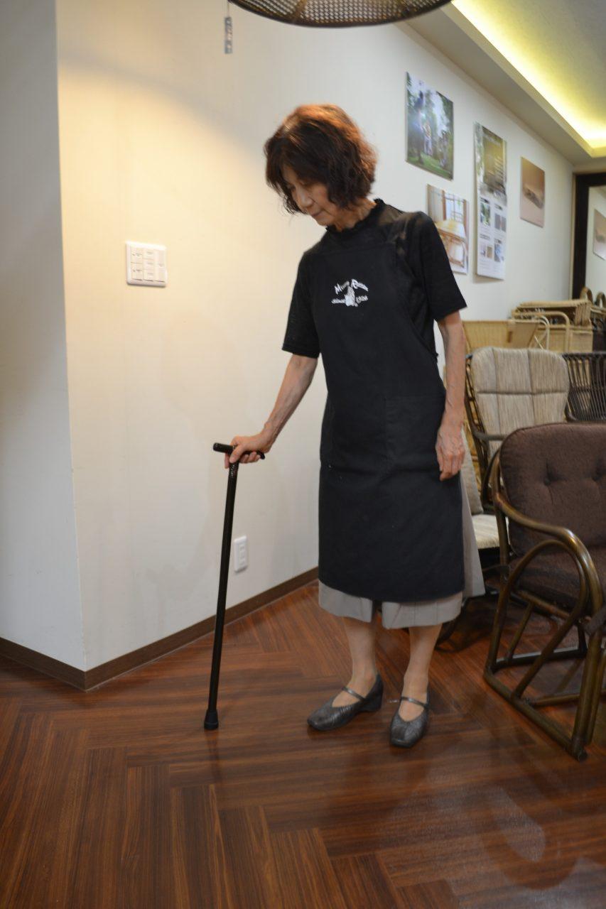女性向けの短めな杖