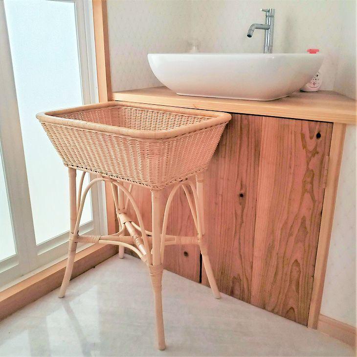 洗面所に。角脱衣かごDK-033Lサイズ