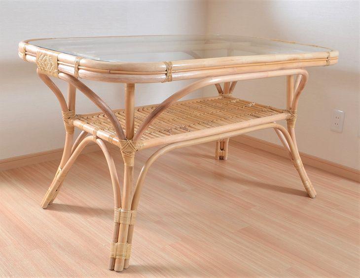 籐ラタンダイニングテーブル|TA-049