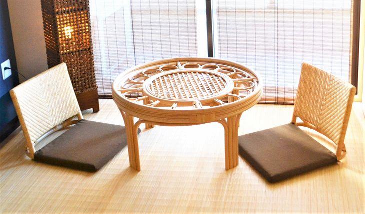 籐(ラタン)座椅子ZA-01ナチュラル