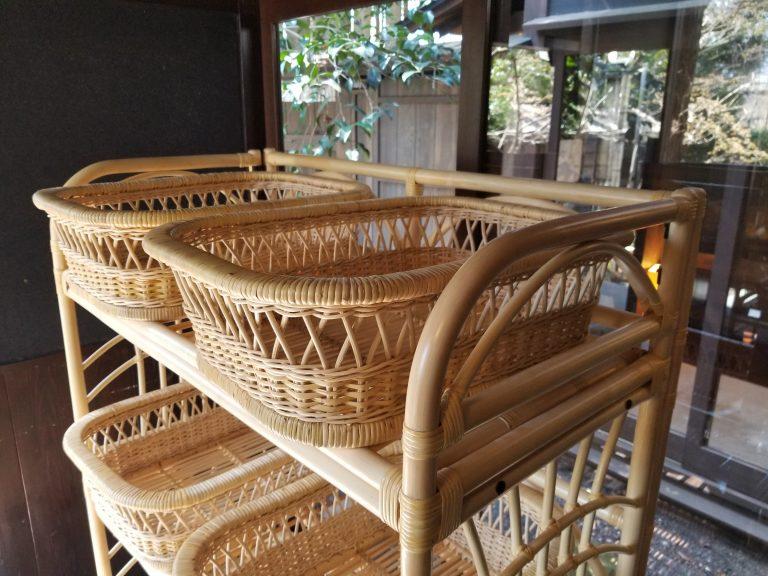 籐やらい脱衣かご|籐のかごと情緒あふれる日本の温泉