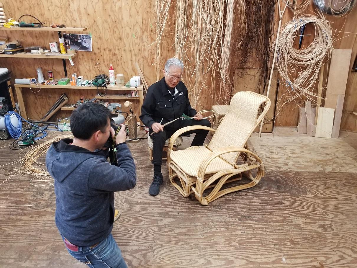 籐椅子製作風景角度も状況も再現