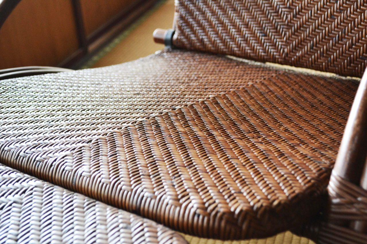 手編みの座面