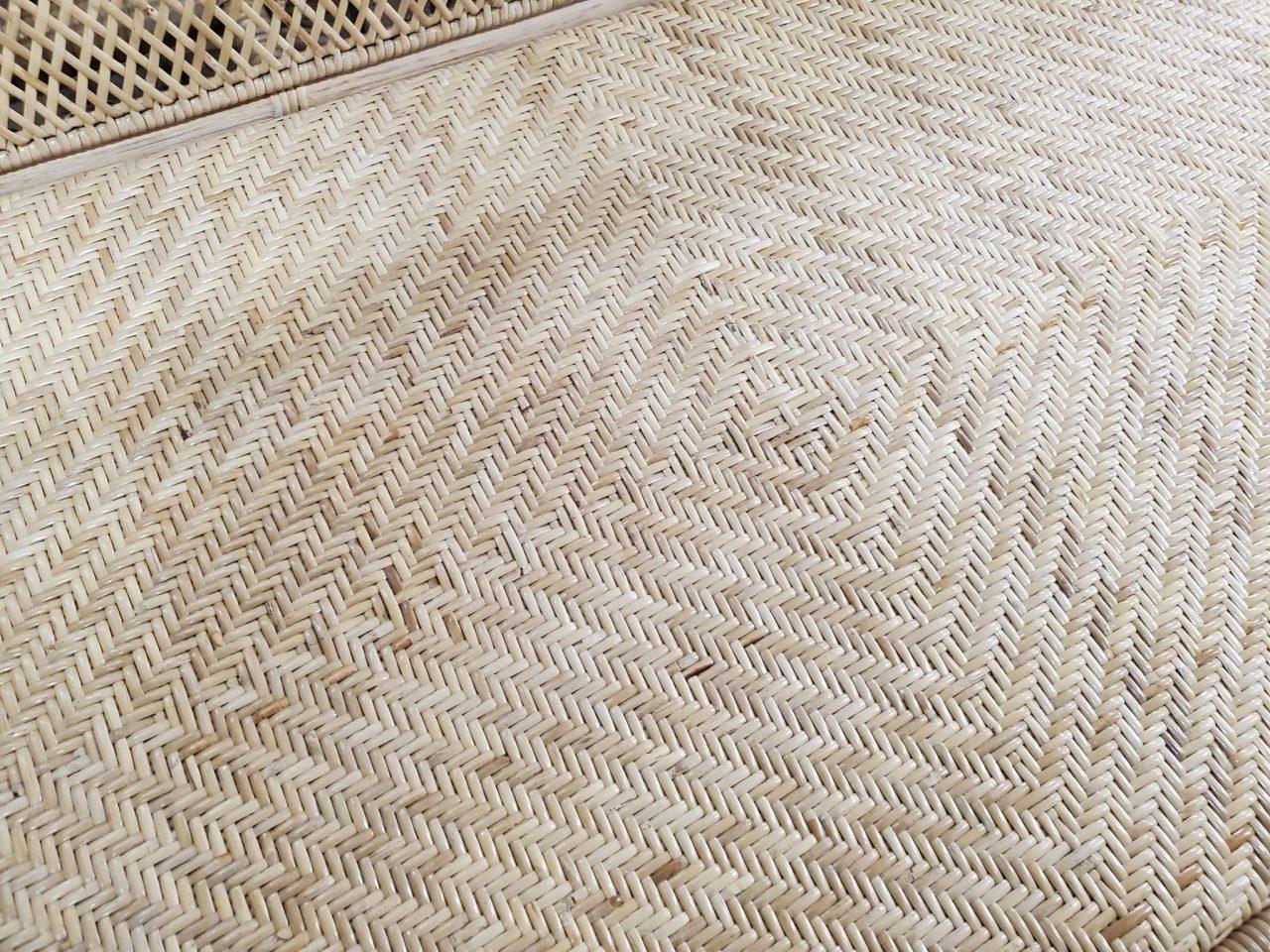 網代編みの座面