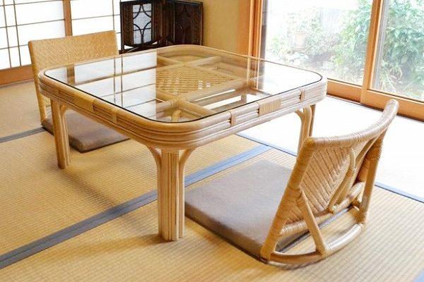 籐角テーブルコタツTA-023